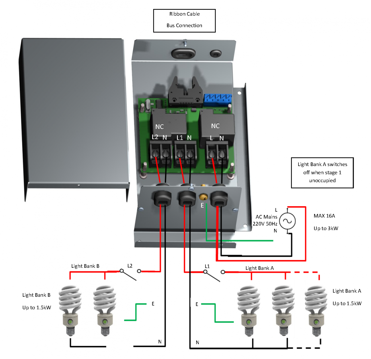 Light Switch Wiring Diagram 220v Switching Module Rickardair Back To Occupancy Sensing With Diffuser Integration