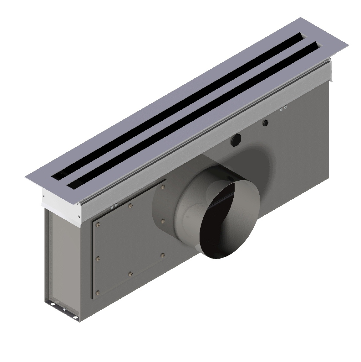 Linear Diffuser With Damper : Electronic variable volume linear diffuser vln rickardair